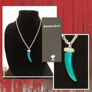 Haute BAUBLEBAR Jade Tusk Statement Necklace